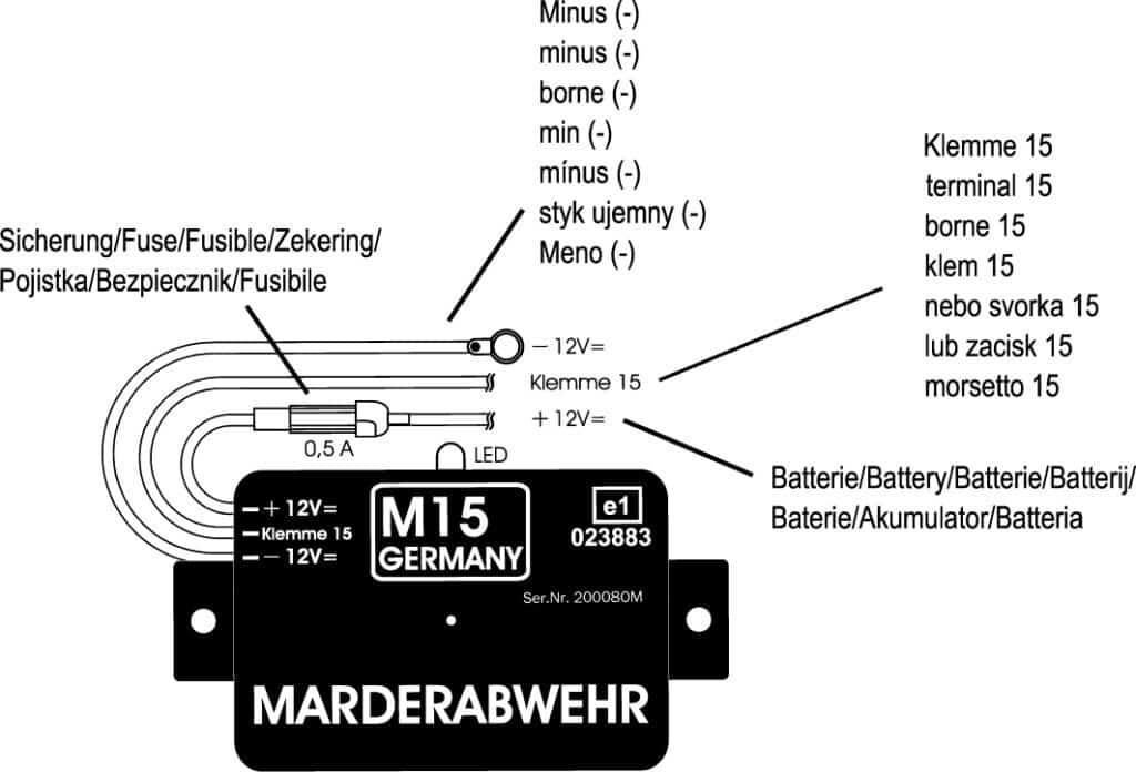 M15 mit Beschriftung